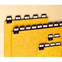 VALREX Jeu de 25 intercalaires avec onglet métallique pour boîte à fiches format A5 en hauteur