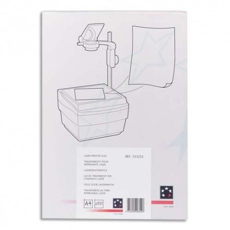 5 ETOILES Boîte de 50 transparents pour toutes imprimantes laser couleur