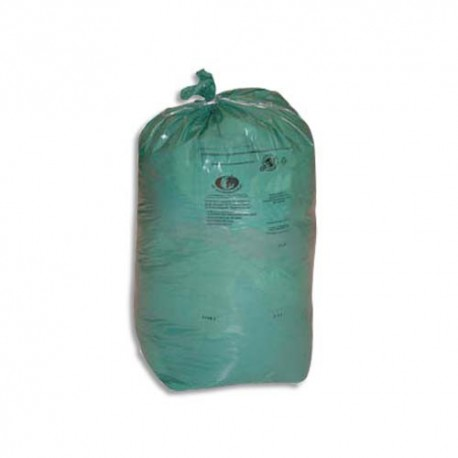 SACS POUBELLES Boîte de 8 rouleaux de 25 Sacs-poubelle vert 110 litres 30 microns