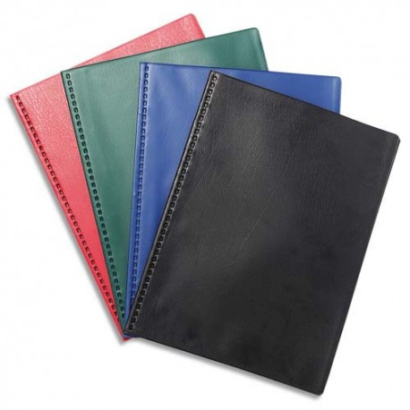 Porte vues EXACOMPTA - Protège documents soudé VEGA couverture PVC 3/10 coloris assortis opaque