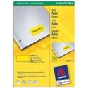 Etiquette AVERY L6041- Boîte de 960 étiquettes laser 45,7 x 21,2 mm jaune L6041-20