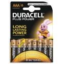 DURACELL Blister de 8 piles Alcalines 1,5V AAA LR03 Plus Power Duralock
