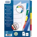 Intercalaire A4+ ELBA - Jeu d'intercalaires 6 positions maxi format /pochettes en carte blanche à onglets plastif couleur