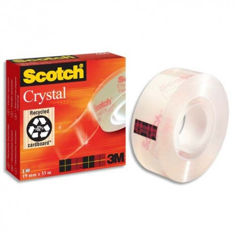 3M Ruban scotch crystal clear 600 en 19mmx66m