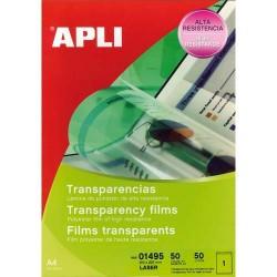 APLI Film transparents pour imprimante laser Couleurs B/50