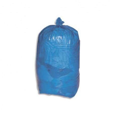 SACS POUBELLES Carton de 8 rouleaux de 25 Sacs-poubelle 110L bleu 30 microns