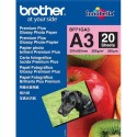 Papier photo BROTHER - pack de 20 feuilles de papier photo format A3 Brother-BP71GA3