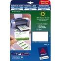 AVERY Pochette de 80 cartes de visite (85x54mm) 260g Quick&Clean jet d encre mate coins arrondis
