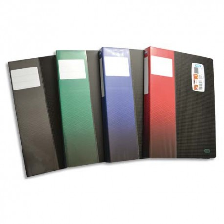 Porte vues ELBA - Protège documents STAND UP format A4 coloris noir coloris étiquette assorties