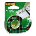 Ruban adhésif invisible Scotch Magic 810 19mm x 25m sur dévidoir plastique