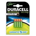 DURACELL Blister de 4 accus rechargeables 1,2V AAA HR3 800mAh