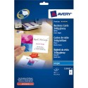 AVERY Pochette de 80 cartes de visite (85x54mm) 240g Quick&Clean jet d'encre photo brillant