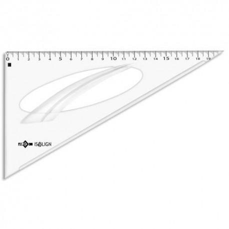 Equerre 60° 21 cm en plastique JPC