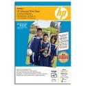 Papier photo HP - feuilles Papier brillant ss bord 250g format 10 x 15 cm