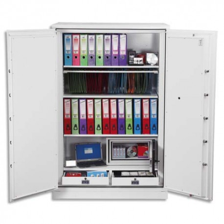 PHOENIX Coffre-fort ignifugé de haute protection pour papier et données informatique 699 litres blanc
