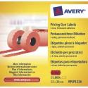 AVERY Boite de 10 rouleaux de 1500 étiquettes rouges sinusoïdales permanentes 26x12mm RPLP1226
