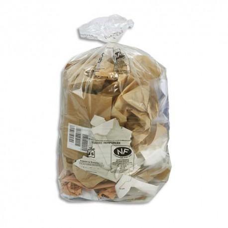 SACS POUBELLES Boîte de 200 Sacs-poubelles transparent qualité NF 130 litres 38 microns