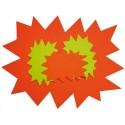 AGIPA Paquet de 10 cartons fluo effaçable à sec jaune/orange forme éclaté 16 x 24 cm