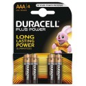 DURACELL Blister de 4 piles Alcalines 1,5V AAA LR03 Plus Power Duralock