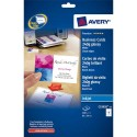 AVERY Pochette de 200 cartes de visite (85x54mm) 240g Quick&Clean jet d encre photo brillant