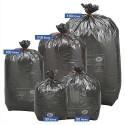 SACS POUBELLES Boîte de 250 Sacs-poubelles noirs top qualité NF 110 litres 38 microns