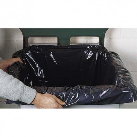 SACS POUBELLES Boîte de 50 Sacs-poubelles housse pour conteneur 750 litres 32 microns