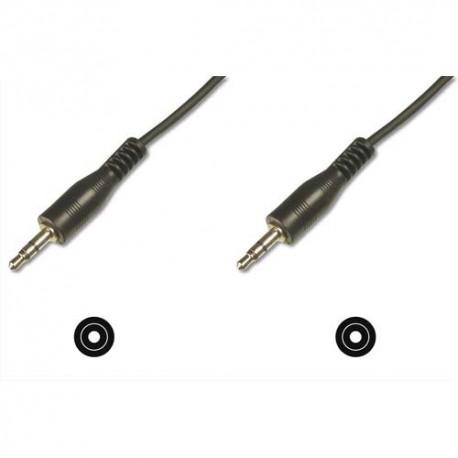 EDNET Câble de connexion Audio stéréo 3.5mm, M/M, 1.50m, blindé, noir 84544