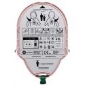 HEARTSINE PAD-Pak Batterie et électrodes Pédiatrie adultes et enfants de +8 ans ou +25kg L16 x H12 x P4cm