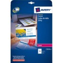 AVERY Pochette de 100 cartes de visite (85x54mm) 220g Quick&Clean laser couleur & monochrome finition mate