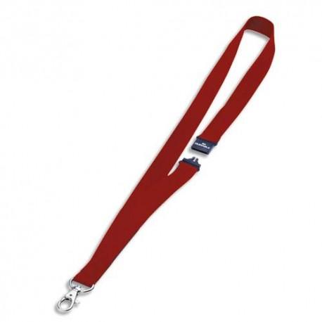 DURABLE Boîte de 10 lacets textile rouge 44cm pour porte-noms avec mousqueton