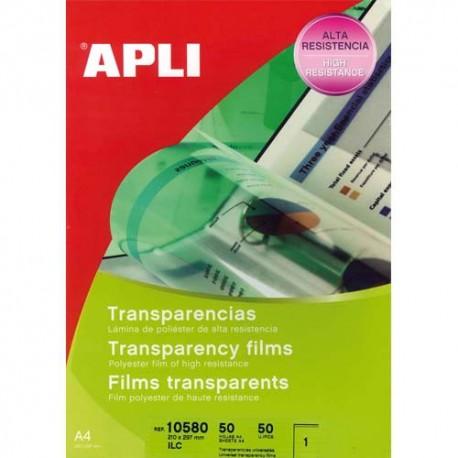 APLI Film transparents pour photocopieur/Imprimantes laser et jet d'encre B/50