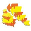 AGIPA Paquet de 50 étiquettes pour point de vente en carton fluo jaune/orange forme flèche 12 x 16 cm
