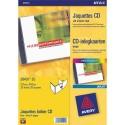 Etiquette AVERY J8676 - Pochette de 200 étiquettes spécial jet d encre pour CD et DVD BL J8676-100