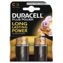 DURACELL Blister de 2 piles Alcalines 1,5V C/LR14 Plus Power Duralock