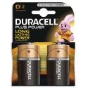 DURACELL Blister de 2 piles Alcalines 1,5V D/LR20 Plus Power Duralock