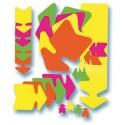 AGIPA Paquet de 10 cartons fluo effaçable à sec jaune/orange forme flèche 16 x 24 cm