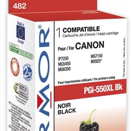 CANON PGI-550XL (PGI550XL) Cartouche compatible jet d'encre noir XL de marque Armor PGi-550XL