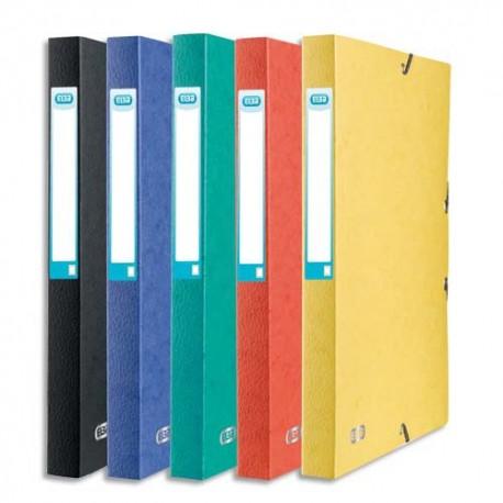 Boîte de classement Elba Eurofolio dos de 2,5, 4, 6 et 9 cm, en carte lustrée 7/10e coloris au choix