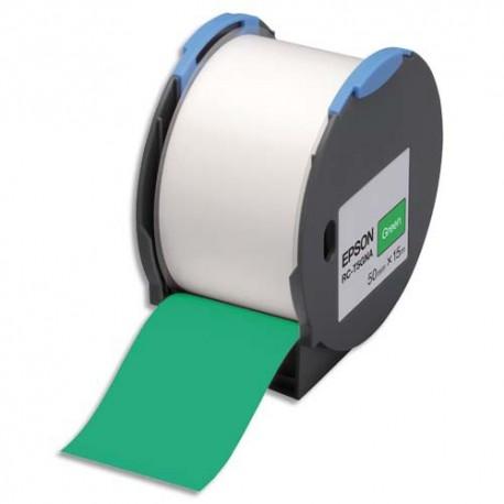 EPSON Cassette RC-T5GNA (RCT5GNA) Ruban autocollant vert 50 mm x 15 m C53S634006