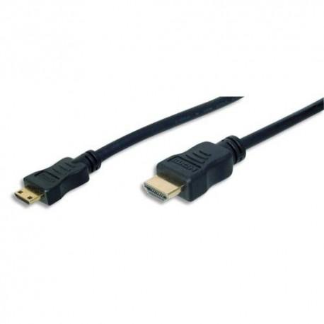 EDNET Câble HDMI haute vitesse type C - A, M/M, 2.0m, Ethernet, Full HD , UL, noir, contacts dorés  84474
