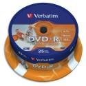 VERBATIM Tour de 25 dvd imprimable 16x 43538 + redv