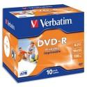 VERBATIM Tour de 25 dvd+r imprim d couche + redv