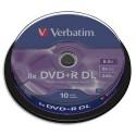 VERBATIM Tour de 10 dvd+r d couche + redv