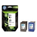 HP 21/22 (SD367A) - Cartouche jet d'encre de marque HP pack N° 21 + 22 / SD367AE