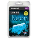 INTEGRAL Clé USB 3.0 Neon 32Go Bleue INFD32GBNEONB3.0+redevance