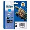 T1572 (T157240) EPSON Cartouche jet d'encre cyan de marque Epson C13T157240 (tortue)