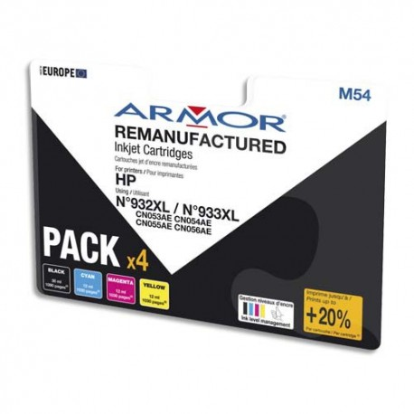 ARM Pack jet d'encre compatible HP CN053AE BCMY B10306R1