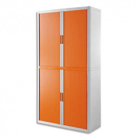 PAPERFLOW EasyOffice armoire démontable corps en PS teinté Blanc Orange - Dimensions L110xH204xP41,5 cm