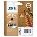 T0711 (T07114H EPSON Cartouche jet d'encre noir (x2) HC de marque Epson C13T07114H