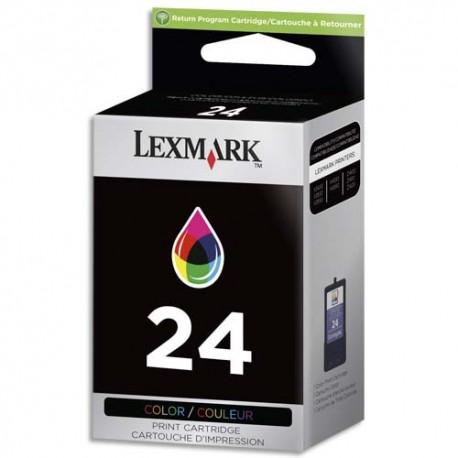 LEXMARK N°24 - Cartouche jet d'encre couleur de marque Lexmark N°24 (18C1524E)